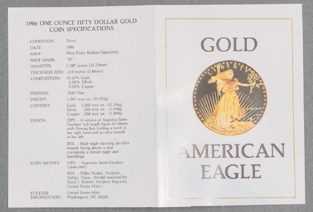 $50 Gold American Eagle Proof 1 Ounce Coin - 2