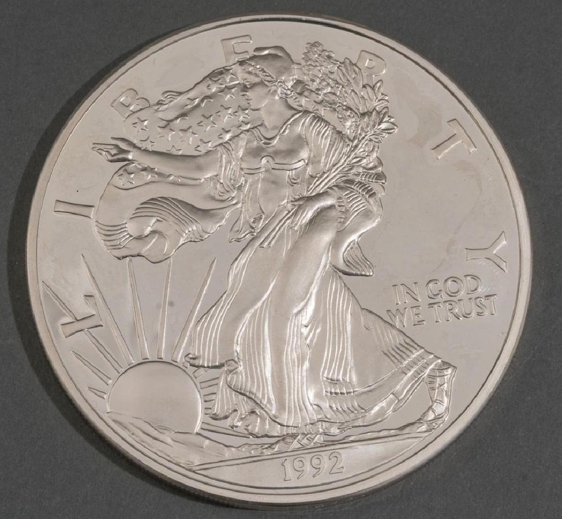 (2) Giant Proof Silver Eagle Coins .999 Silver 48 OZT - 2