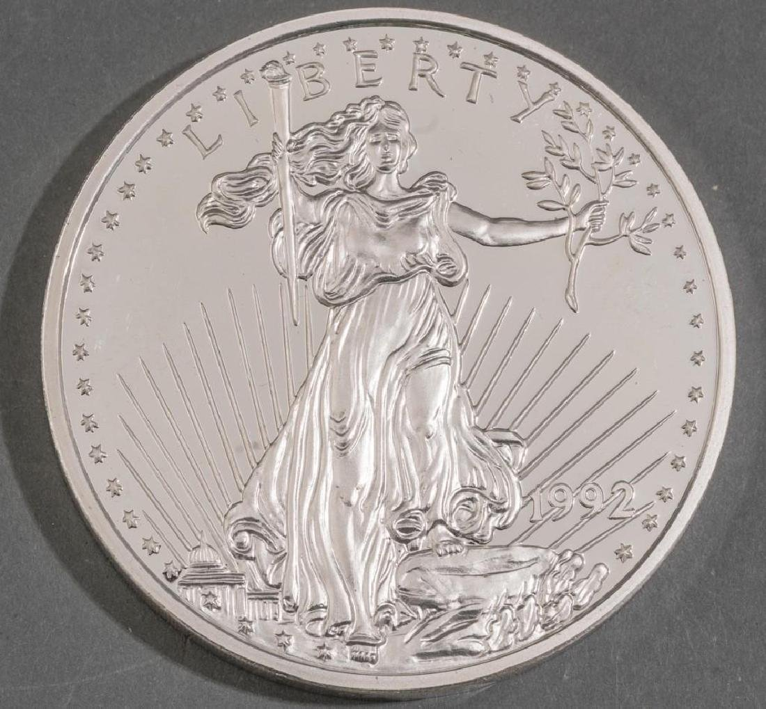 (2) Giant Proof Silver Eagle Coins .999 Silver 48 OZT - 5