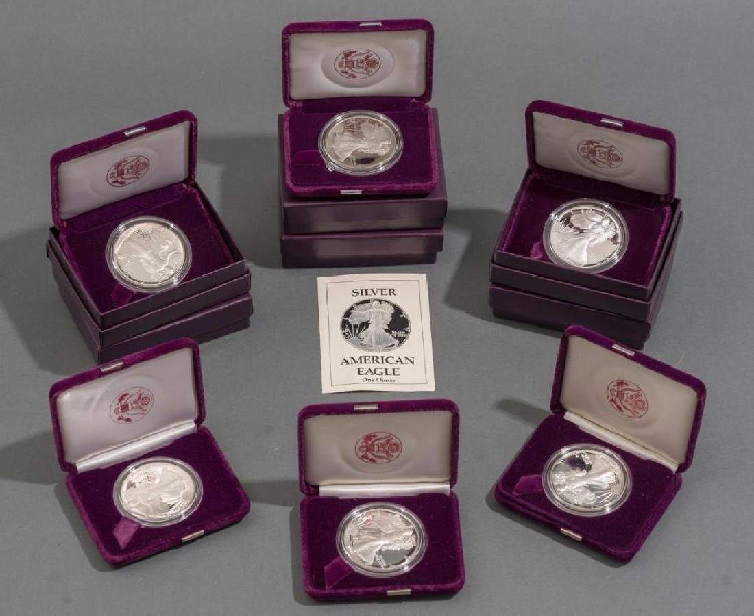 (6) 1oz Silver American Eagle Proof Coins