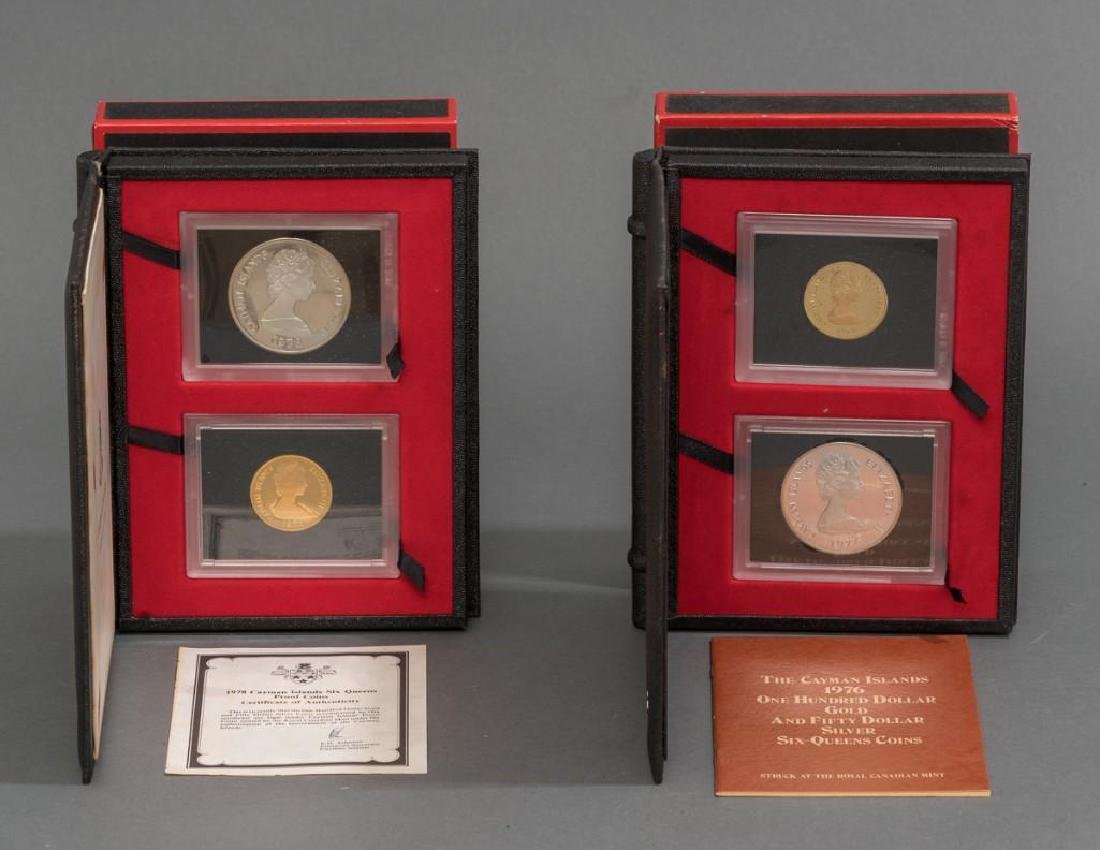 Cayman Islands Gold & Silver 'Six Queens' Coins