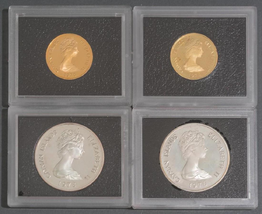 Cayman Islands Gold & Silver 'Six Queens' Coins - 2