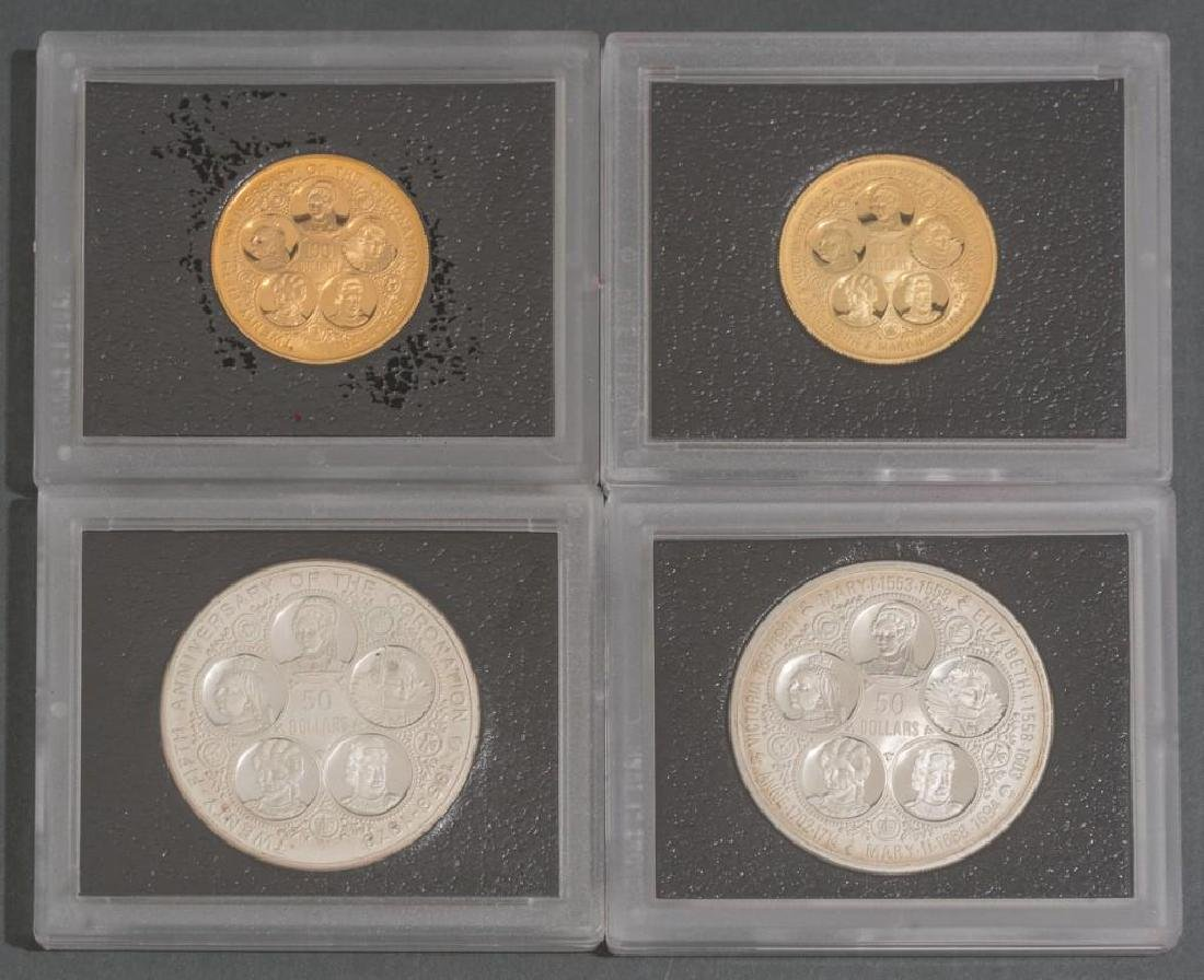 Cayman Islands Gold & Silver 'Six Queens' Coins - 3