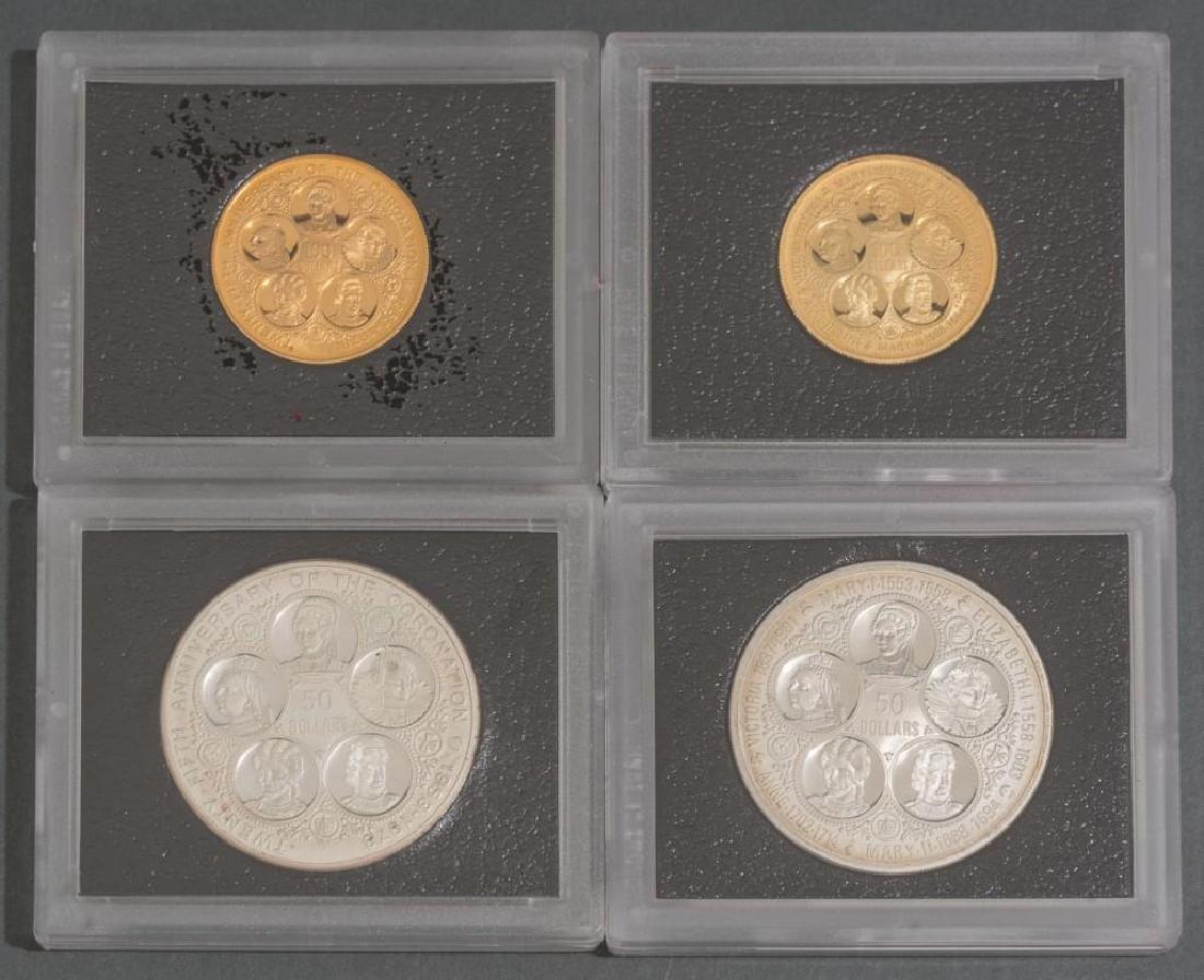 Cayman Islands Gold & Silver 'Six Queens' Coins - 3