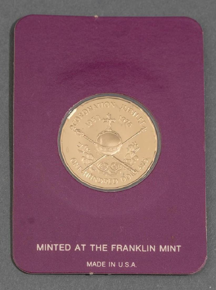 3-Piece Collection of Franklin Mint Gold Proof Coins - 5