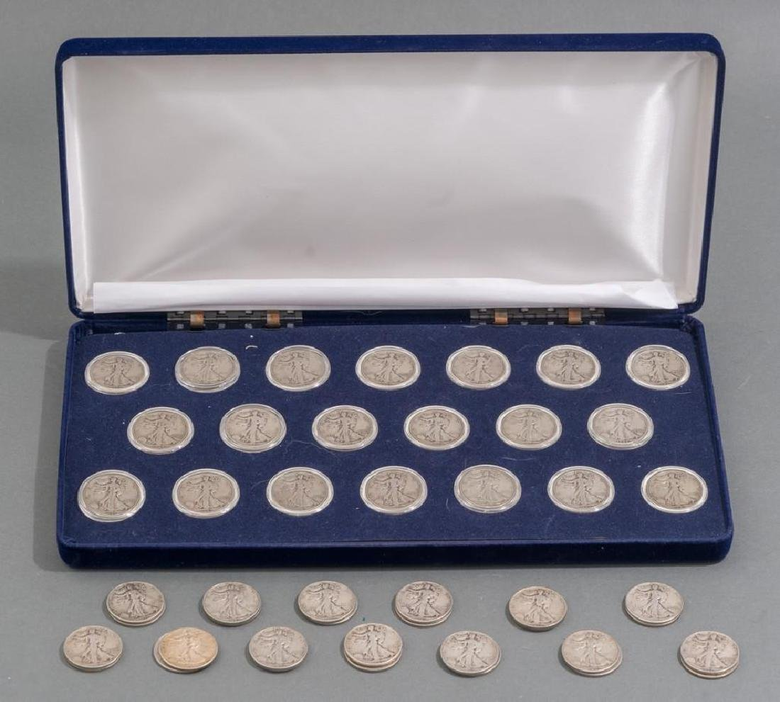 Collection of 46 Walking Liberty Half Dollar Coins