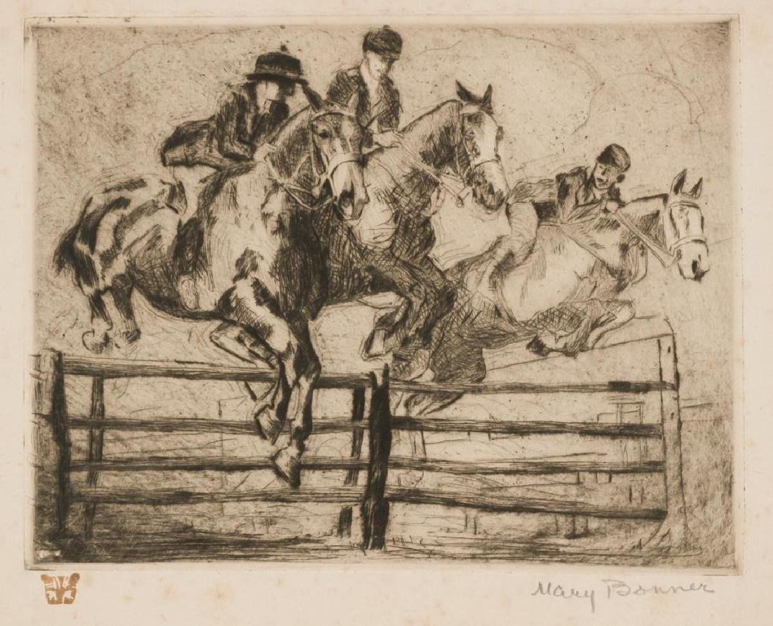 Mary Bonner (1887-1935), Steeplechase, etching