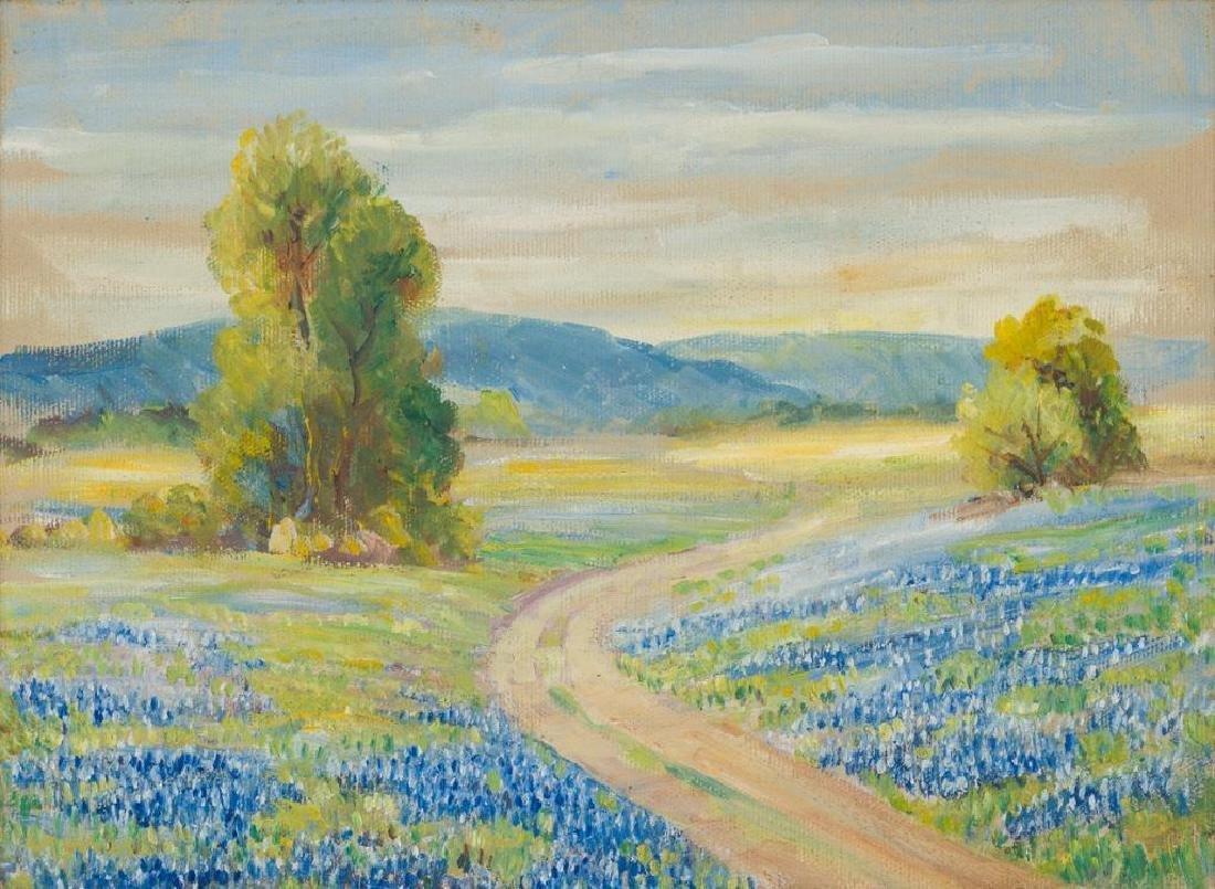 Maude Work (1888-1943), Texas Bluebonnets, oil
