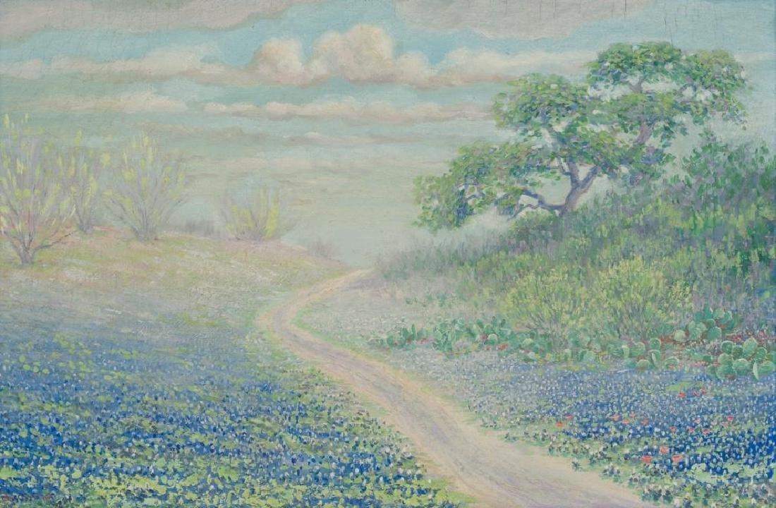 Janet Downie (1854-1944), Bluebonnets, oil on board,