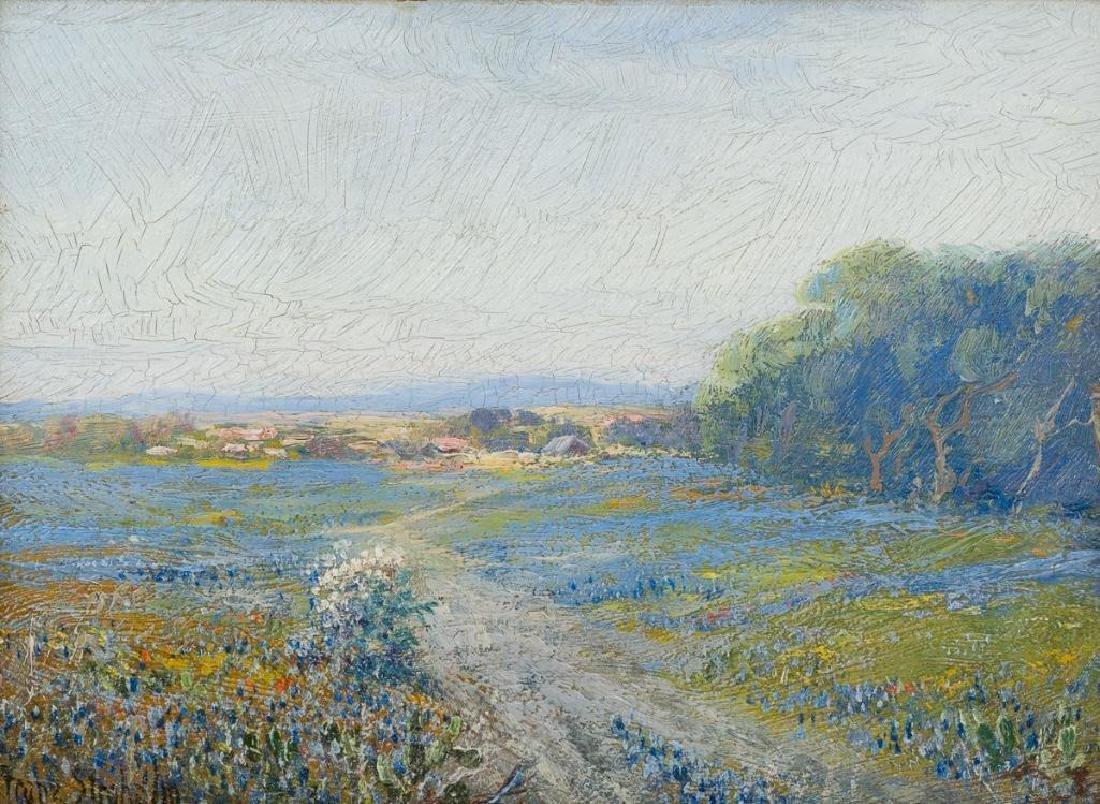 Franz Strahalm (1879-1935), Bluebonnet Field, oil
