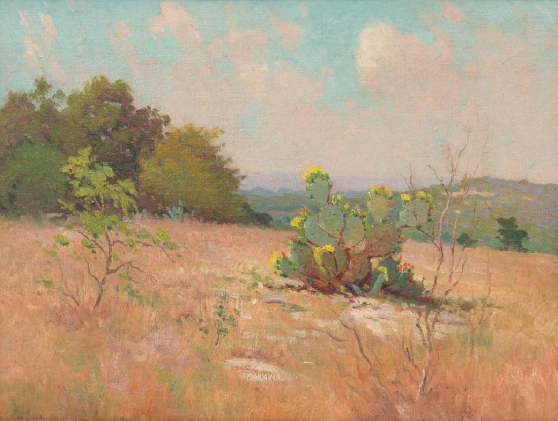 Robert Wood (1889-1979), Blooming Cactus, oil