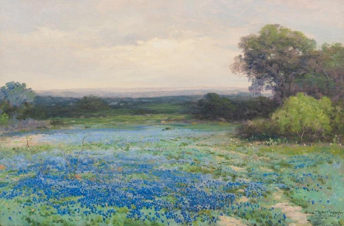 Robert Wood (1889-1979), Bluebonnets, 1943, oil
