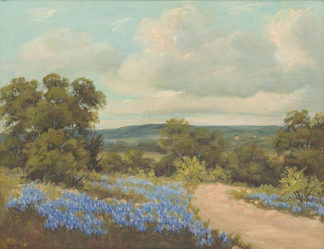 Vivian Love (1908-1982), Bluebonnet Road, 1964, oil