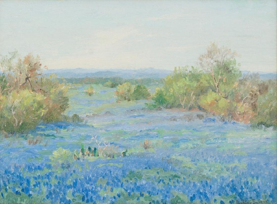Porfirio Salinas (1910-1973), Bluebonnets, oil