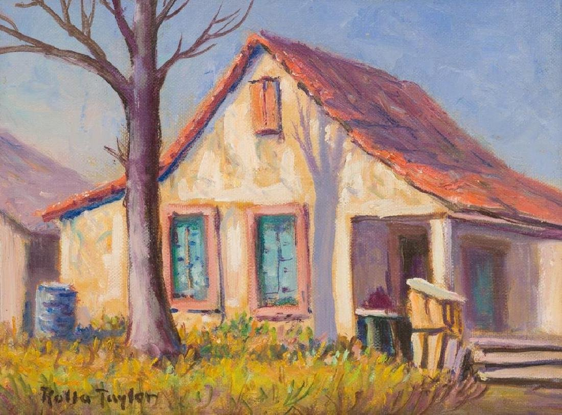 """Rolla Taylor (1872-1970), """"O. Henry Old Home"""", oil"""