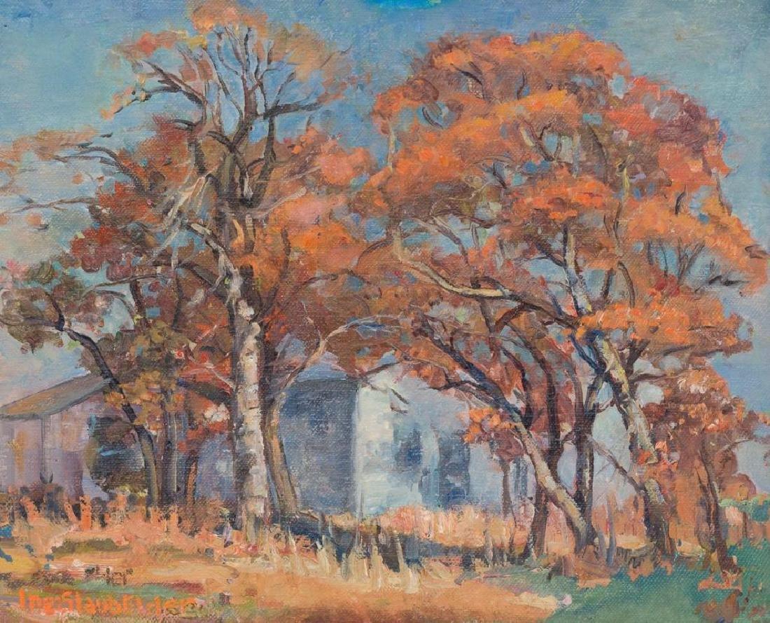 "Inez Staub Elder (1894-1991), ""Old House--Fall"","
