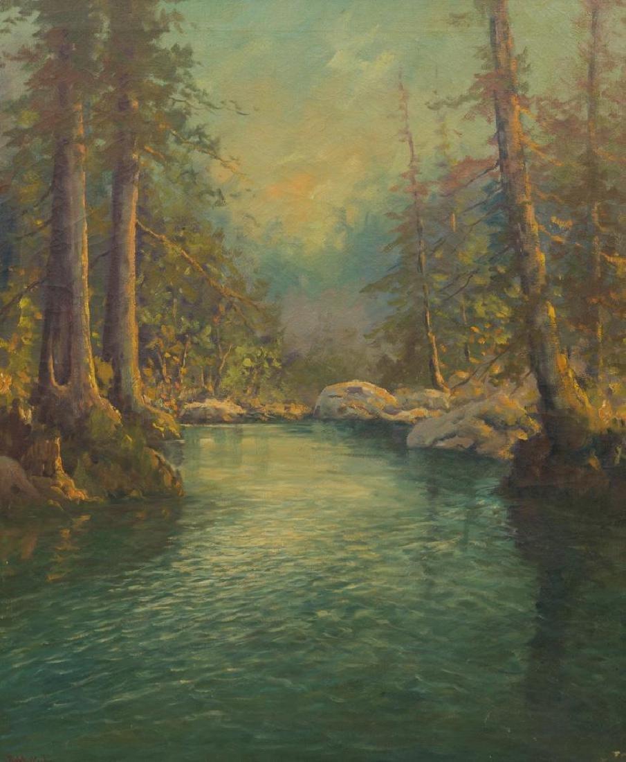 Robert Wood (1889-1979), California Pines, oil