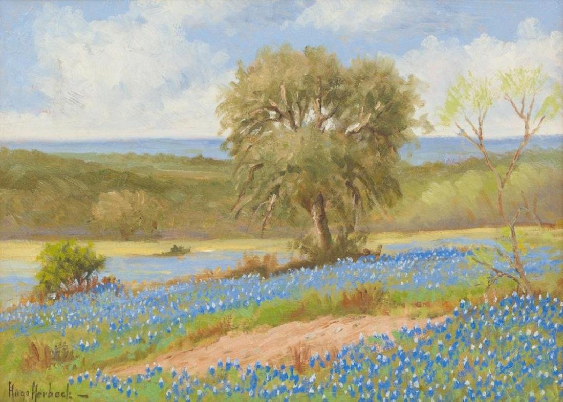 Hugo Herbeck (1923-2009), Bluebonnets, San Antonio,