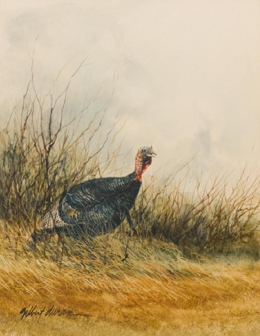 Gilbert Duran (b. 1936), Wild Turkey, watercolor,