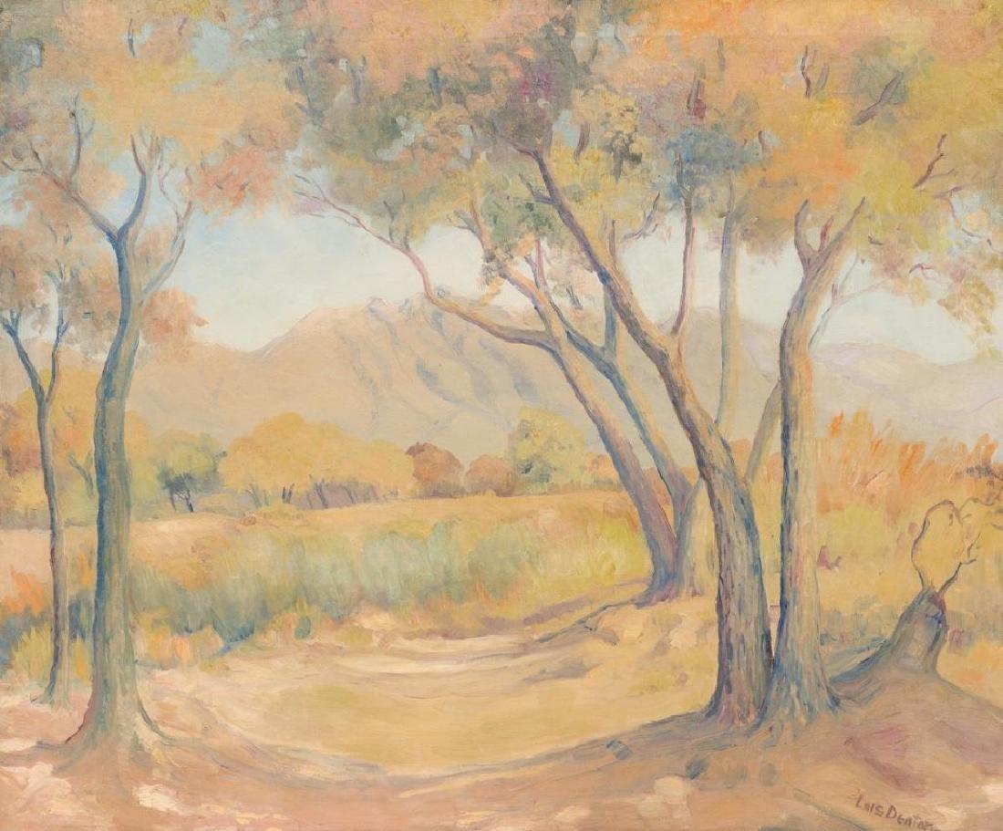 """Lois Denton (1887-1980), """"El Paso"""", c. 1930s, oil"""
