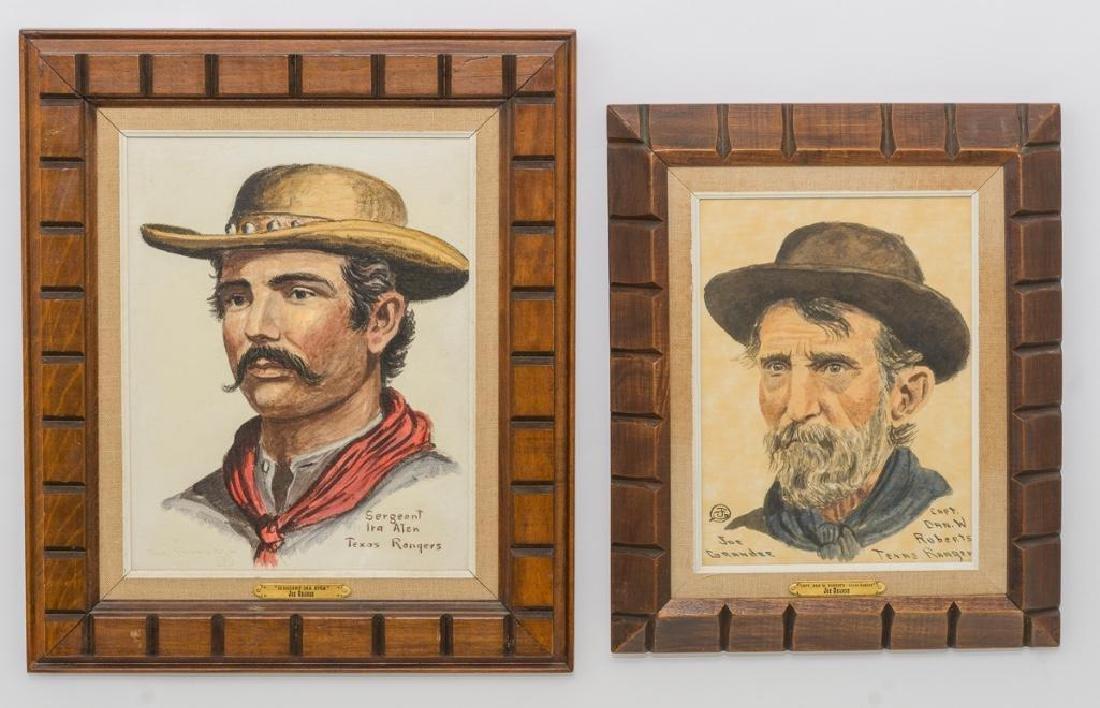 Joe Ruiz Grandee (b. 1929), Pair of Portraits, oil