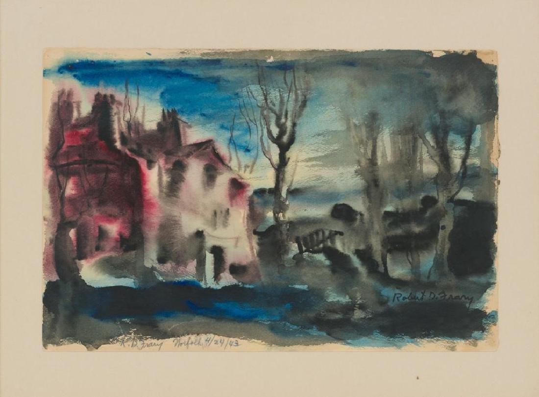 "Robert D. Frary, ""Norfolk"", 1943, watercolor, paper"