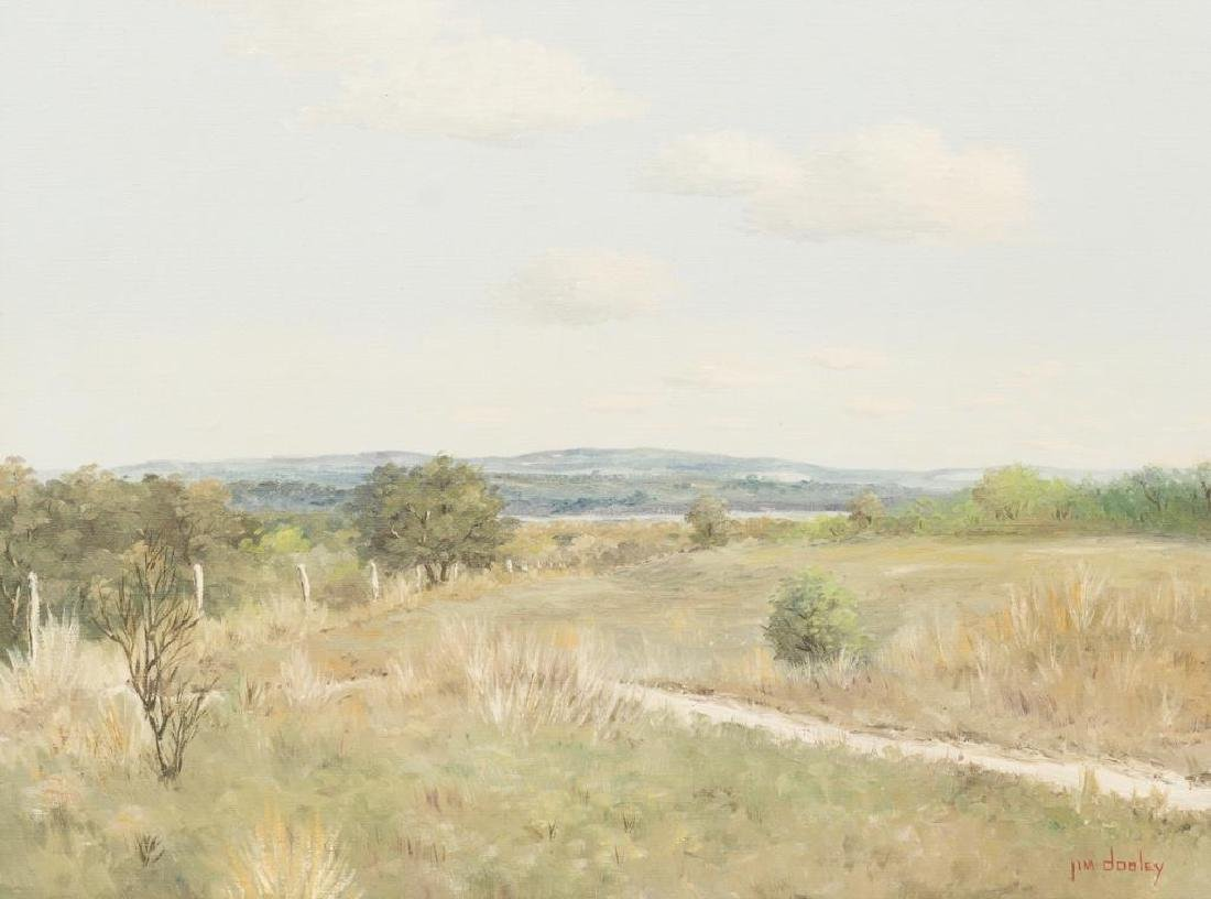 Jim Dooley (1936-1974), Hill Country Vista, oil