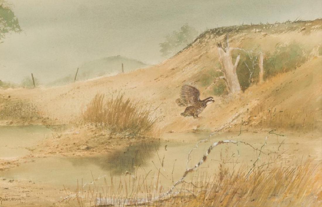 Raul Gutierrez (b. 1935), Texas Quail, watercolor,