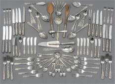 S Kirk  Son Repousse 101piece Sterling Flatware
