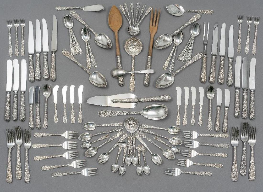 "S. Kirk & Son, ""Repousse"" 101-piece Sterling Flatware"