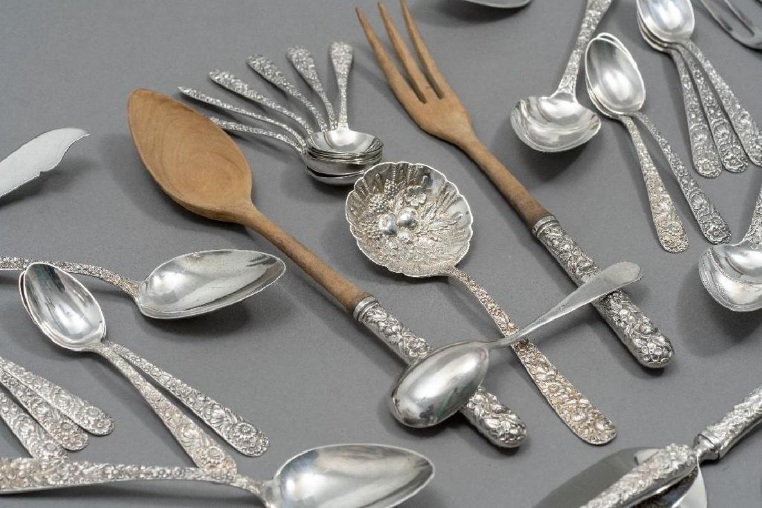 "S. Kirk & Son, ""Repousse"" 101-piece Sterling Flatware - 6"