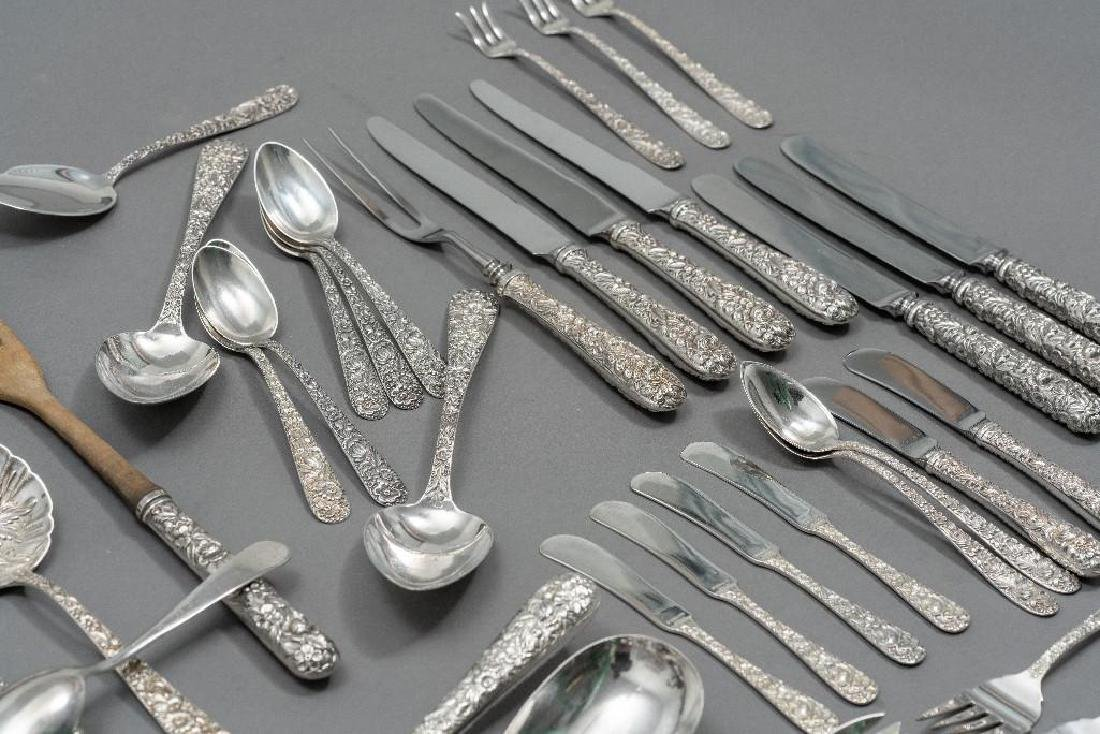 "S. Kirk & Son, ""Repousse"" 101-piece Sterling Flatware - 7"
