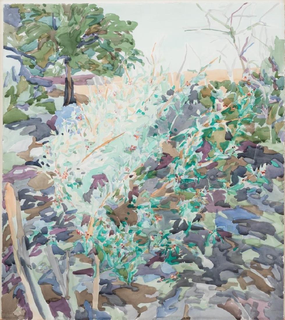 """Malou Flato (b. 1953), """"Agarito"""", watercolor, sight:"""