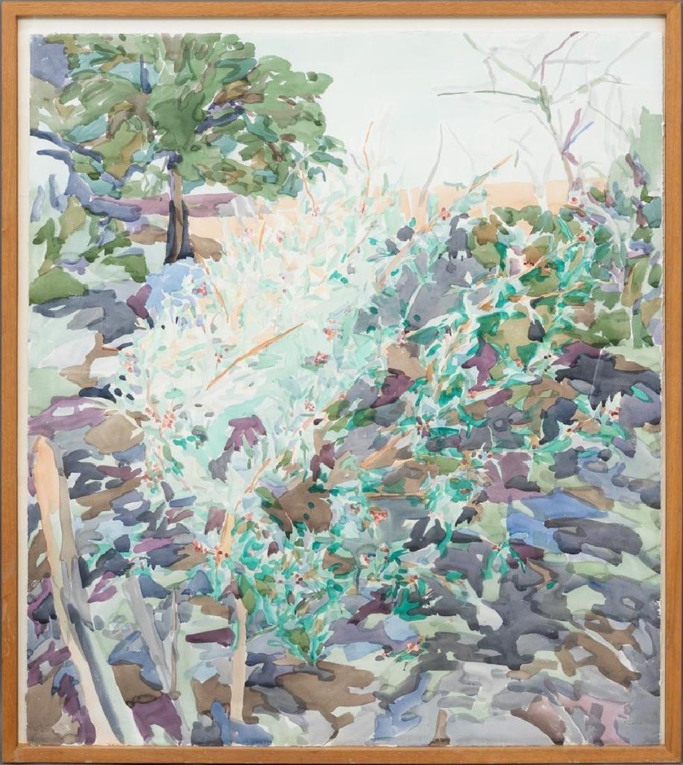 """Malou Flato (b. 1953), """"Agarito"""", watercolor, sight: - 2"""