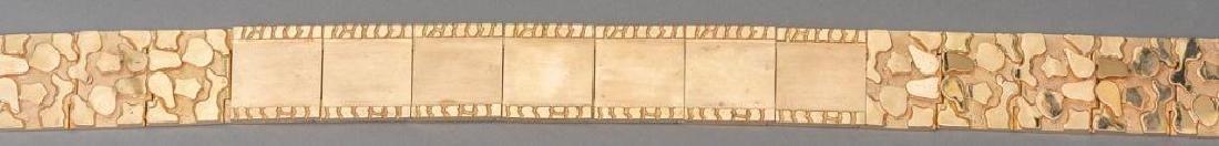 Vintage Solid 14k Gold Nugget Style Belt - 4