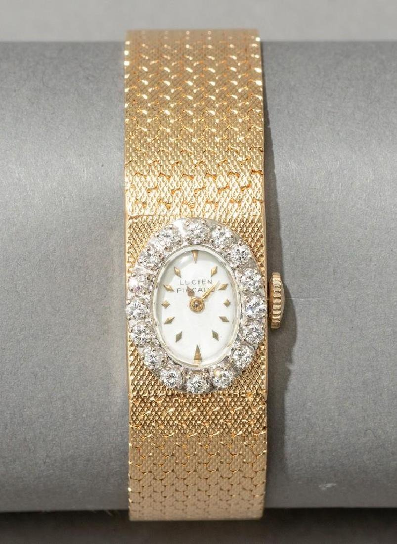 Lucien Piccard 14k Gold and Diamond Wrist Watch