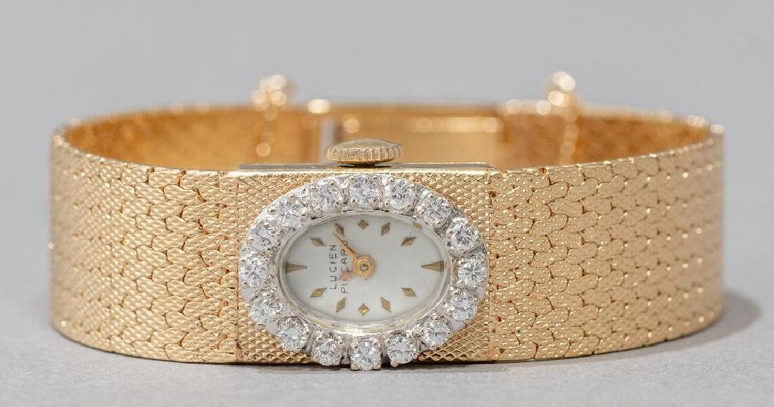 Lucien Piccard 14k Gold and Diamond Wrist Watch - 2