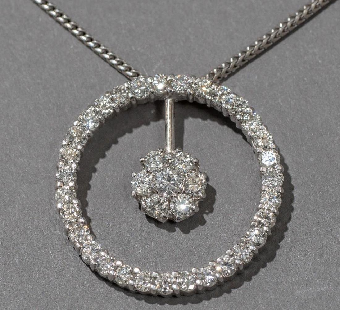 Estate Jewelry Ladies' Diamond & 18k Gold Pendant