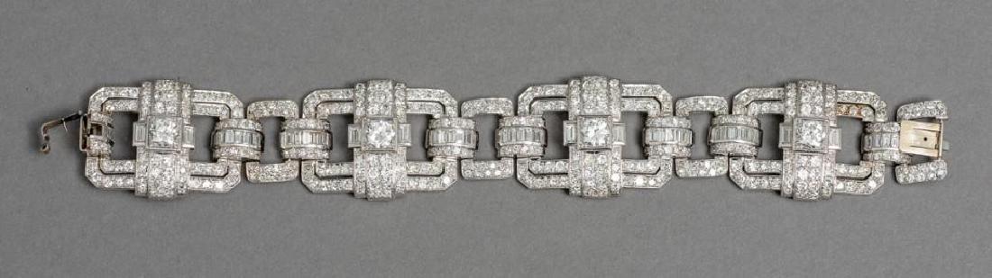 Platinum Art Deco 13 ctw. Diamond Bracelet