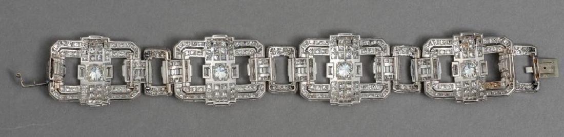 Platinum Art Deco 13 ctw. Diamond Bracelet - 2