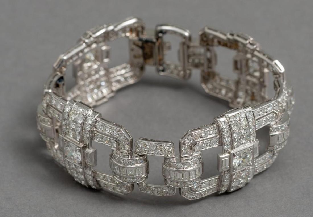 Platinum Art Deco 13 ctw. Diamond Bracelet - 3