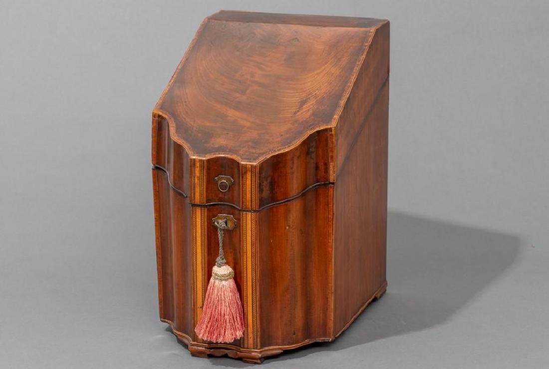 Georgian Mahogany Knife Box - 2