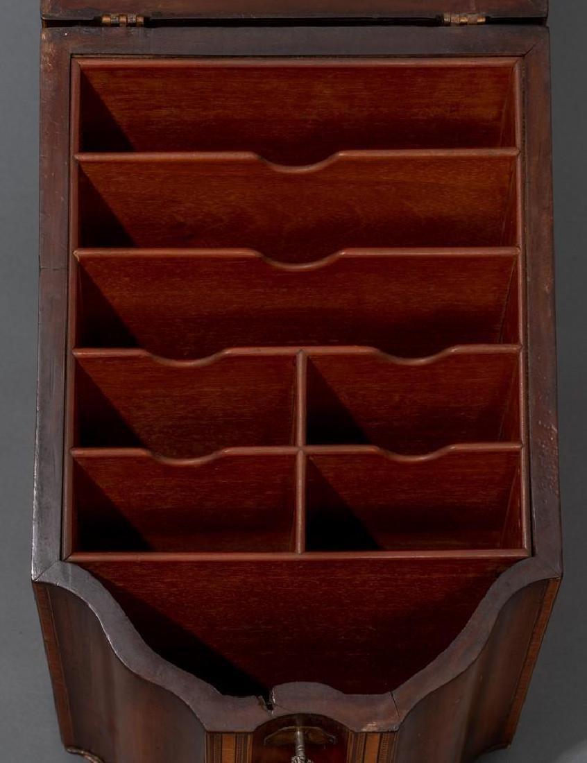 Georgian Mahogany Knife Box - 5