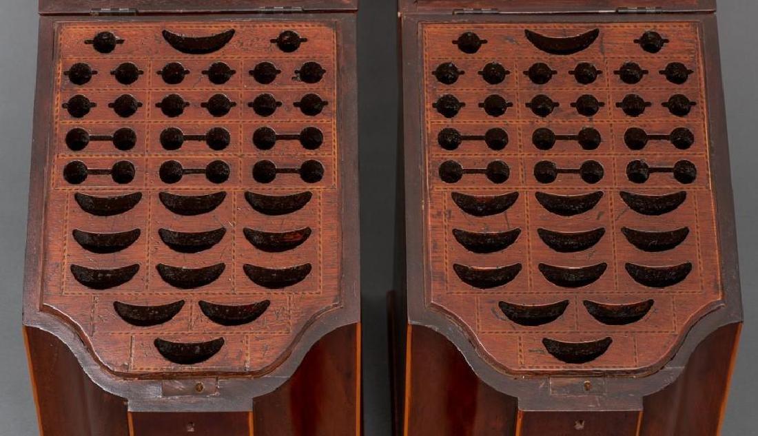 Pair of English Mahogany Knife Boxes 19th/20th c. - 2