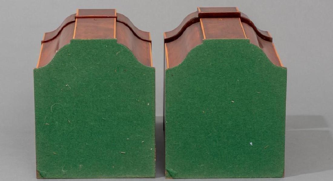 Pair of English Mahogany Knife Boxes 19th/20th c. - 6