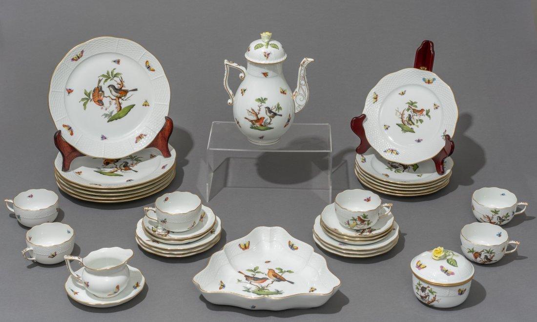 """Herend, """"Rothschild"""" Bird  Porcelain Serviceware"""