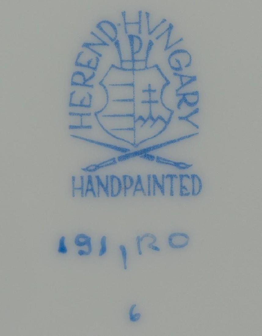 """Herend, """"Rothschild"""" Bird  Porcelain Serviceware - 6"""