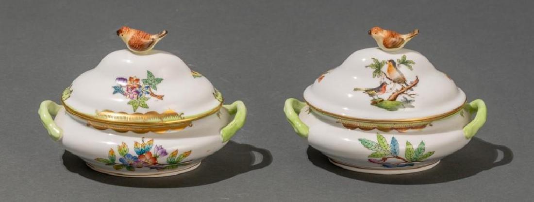 "Herend, ""Queen Victoria"", 4 Miniature Covered Tureens - 2"