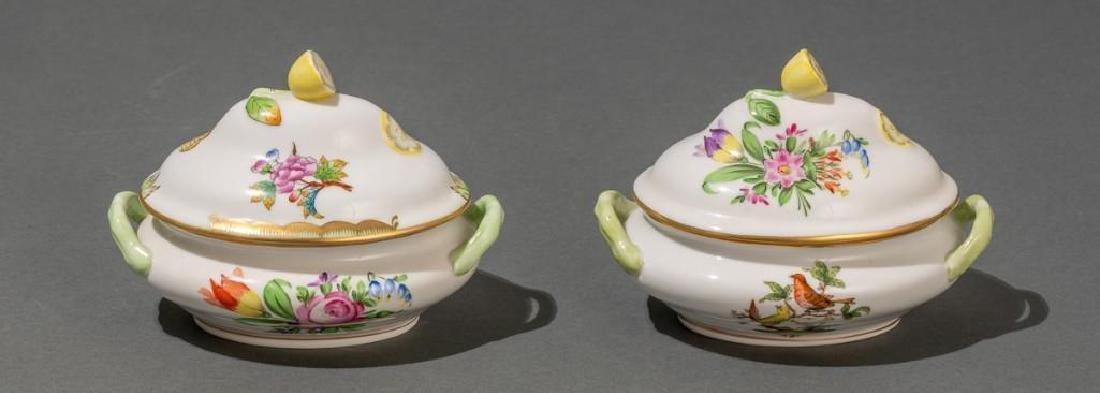 "Herend, ""Queen Victoria"", 4 Miniature Covered Tureens - 3"