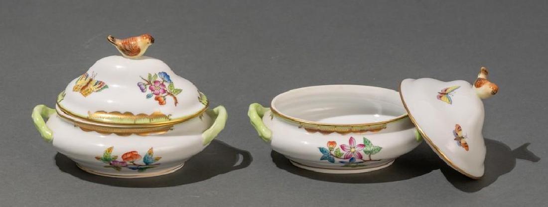 "Herend, ""Queen Victoria"", 4 Miniature Covered Tureens - 5"